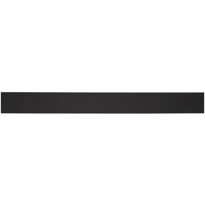 Versace Jeans Couture Black Leather Logo Belt