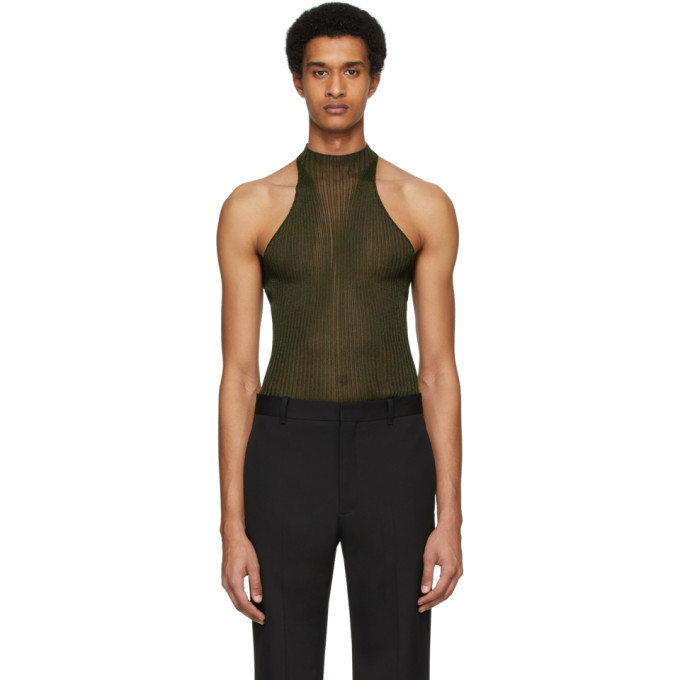 Photo: Dion Lee Khaki Corrugated Tank Top