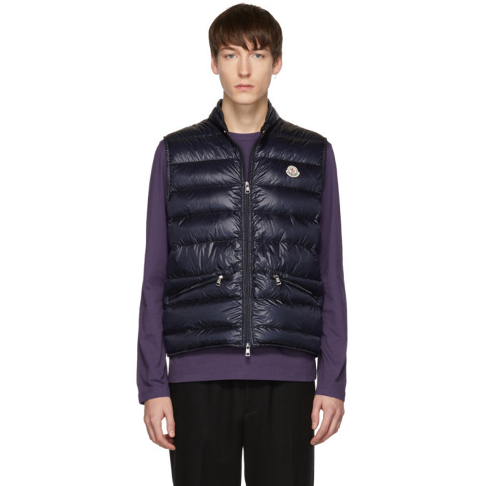 Photo: Moncler Navy Down Gui Vest