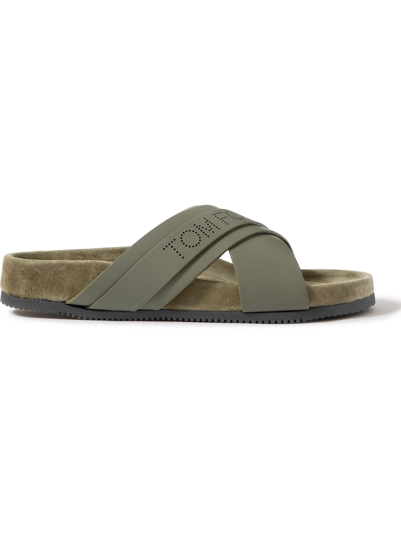 TOM FORD - Wicklow Leather and Suede Sandals - Green