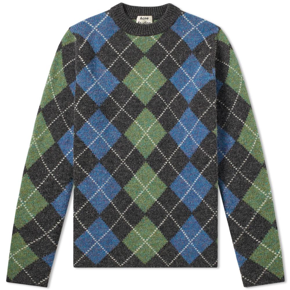 Acne Studios Newton It Argyle Knit
