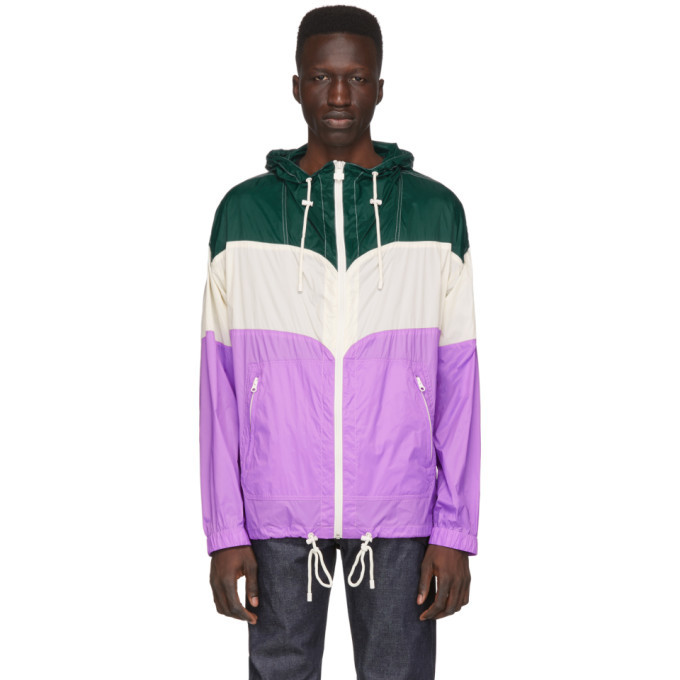 Photo: Isabel Marant Green and Purple Kyrieh Sporty Raincoat