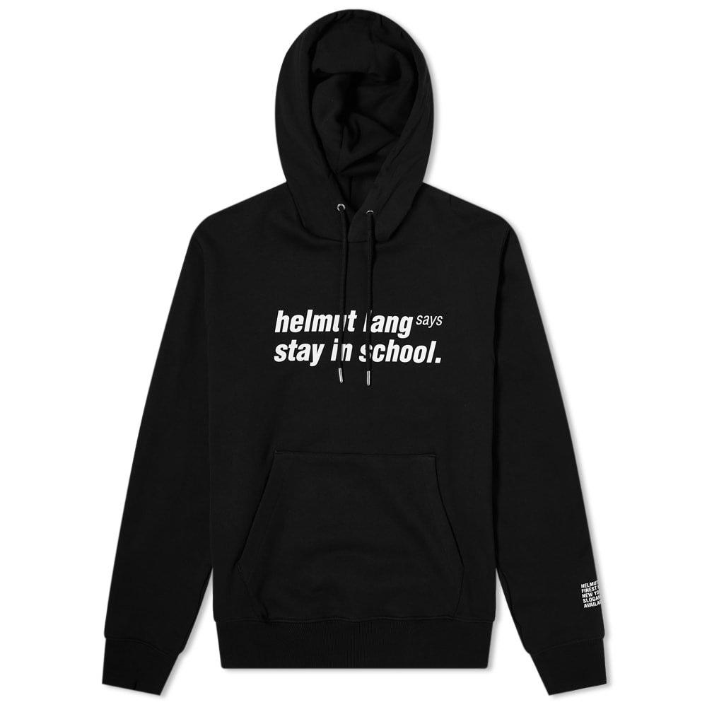 Photo: Helmut Lang Helmut Lang Says Stay In School Popover Hoody