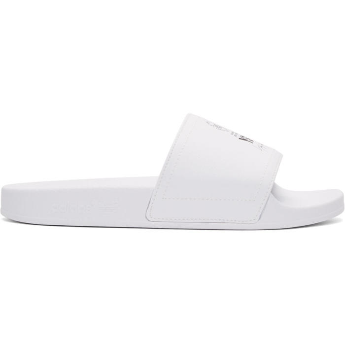 cbd70d6b8c65 Y-3 White Leather Adilette Slides Y-3