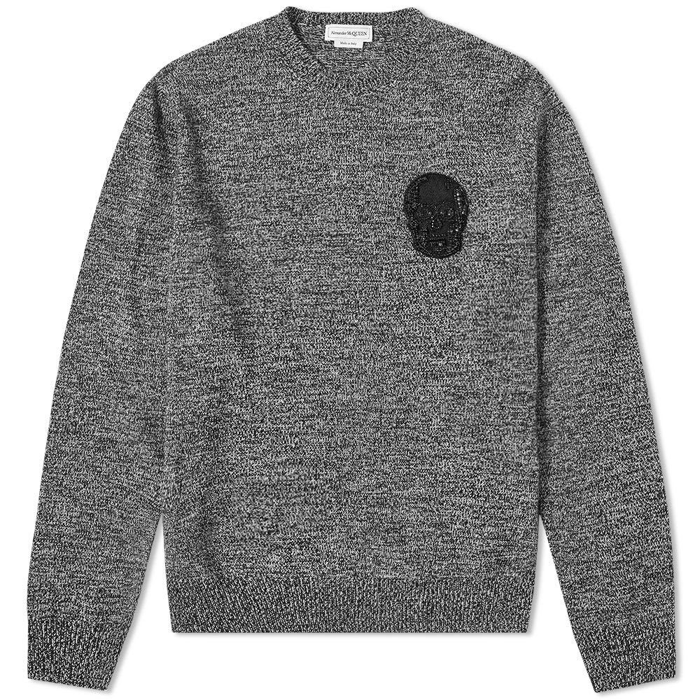 Photo: Alexander McQueen Crystal Skull Patch Crew Knit