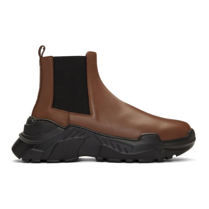 Photo: Tibi SSENSE Exclusive Brown Diego Glove Boots