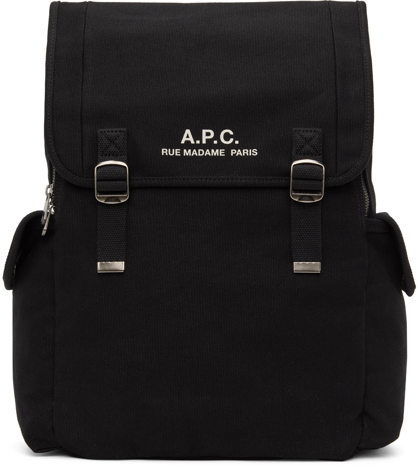 Photo: A.P.C. Black Canvas Recuperation Backpack