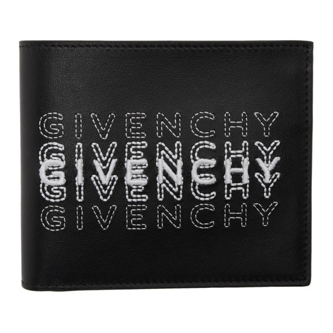 Photo: Givenchy Black Embroidered Logo Wallet