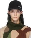 Sacai Black KAWS Edition Melton Cap