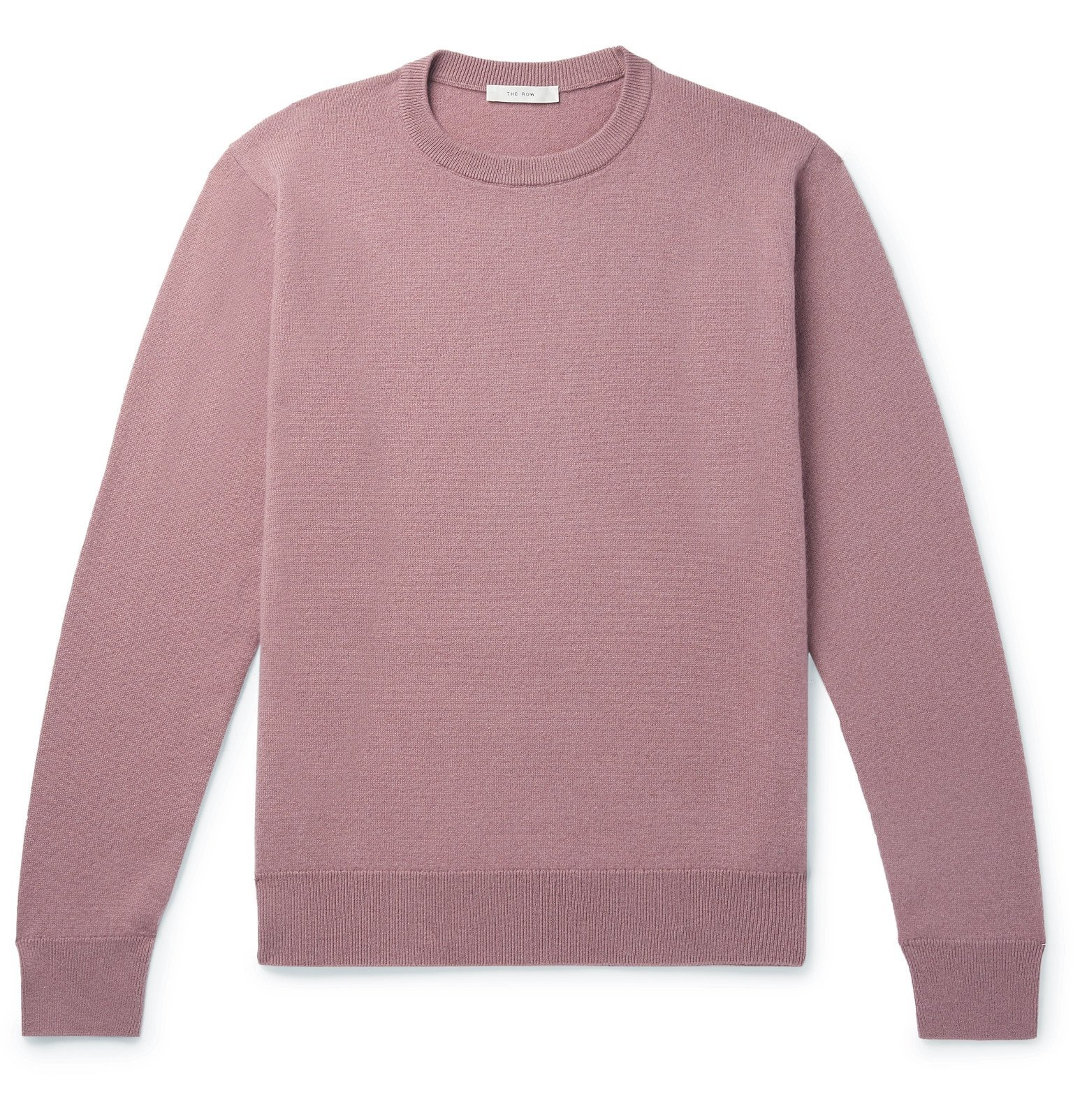 Photo: The Row - Benji Slim-Fit Cashmere Sweater - Pink