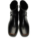 Raf Simons Black High Sole Detail Low Boots