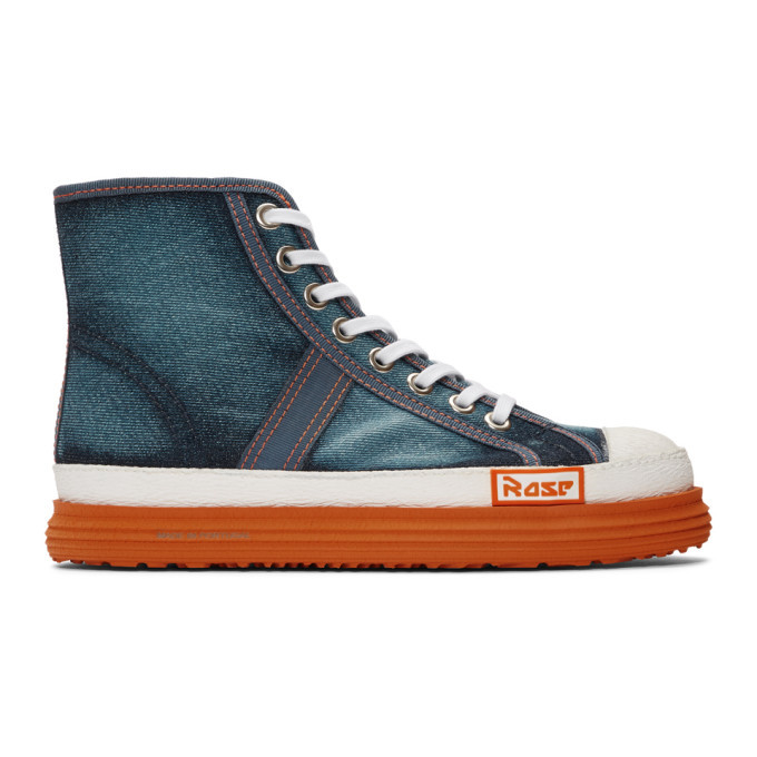 Photo: Martine Rose Blue Denim Basketball Sneakers