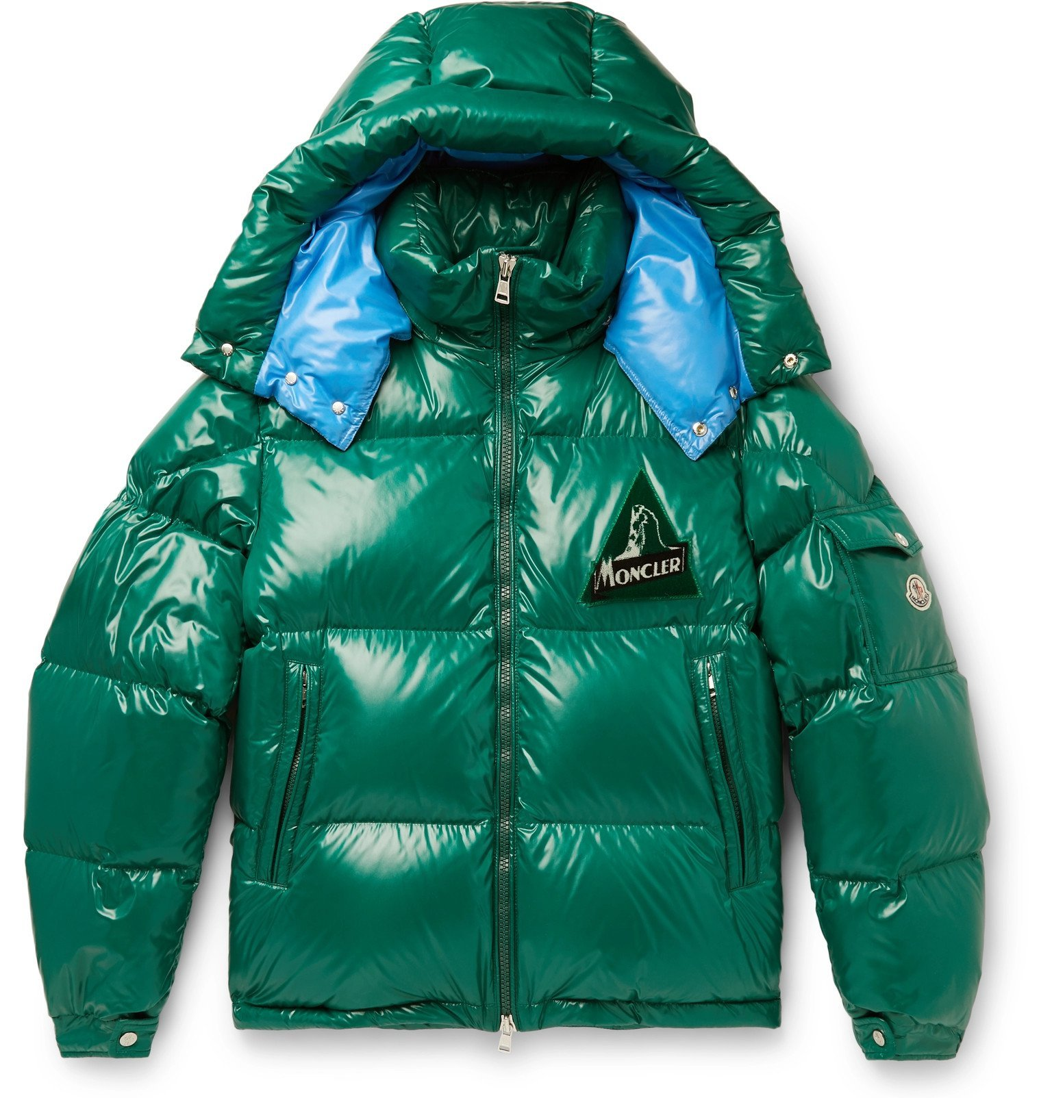 Photo: Moncler - Wilson Quilted Shell Hooded Down Jacket - Green