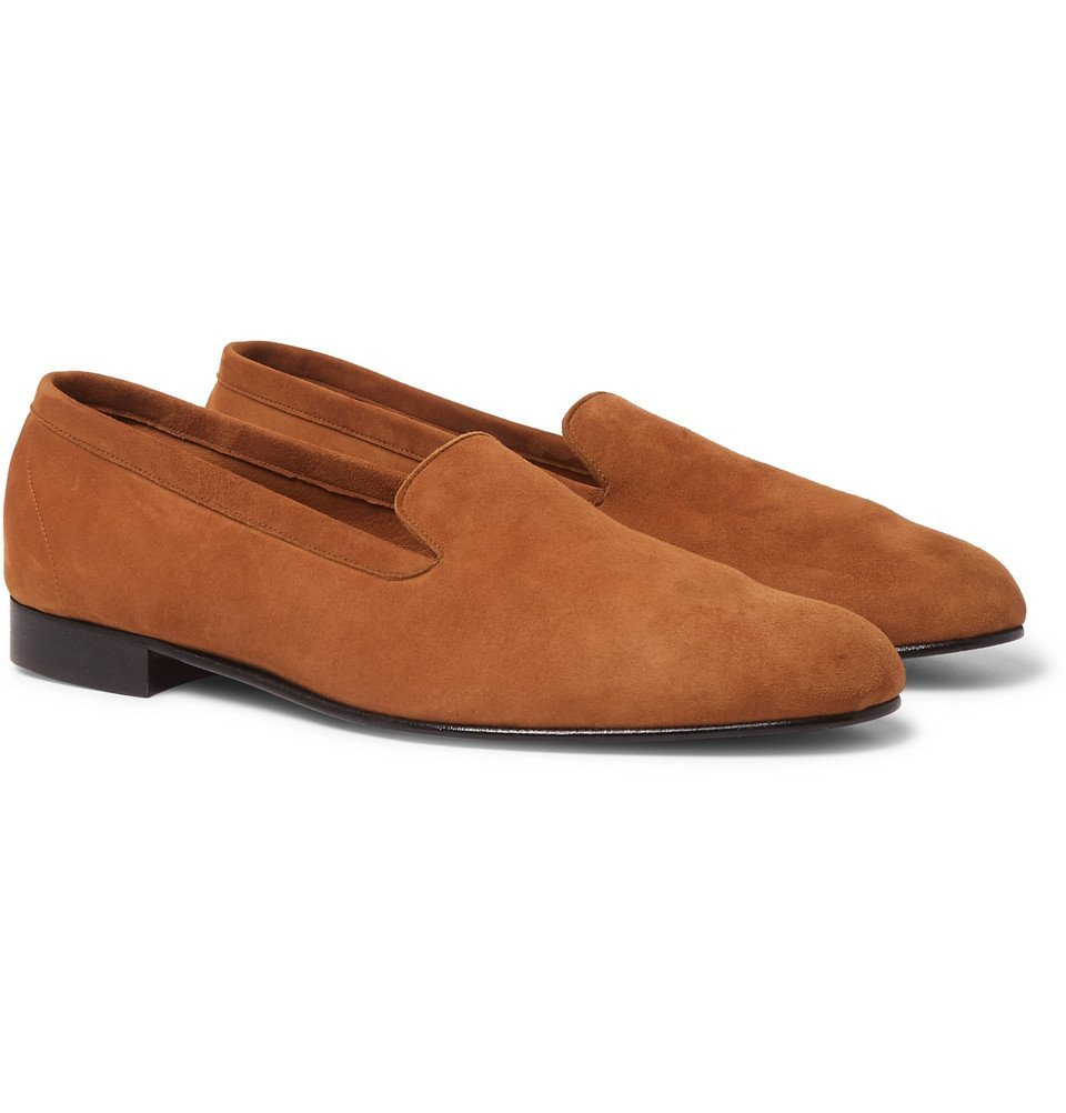 Photo: George Cleverley - Hedsor Suede Loafers - Tan