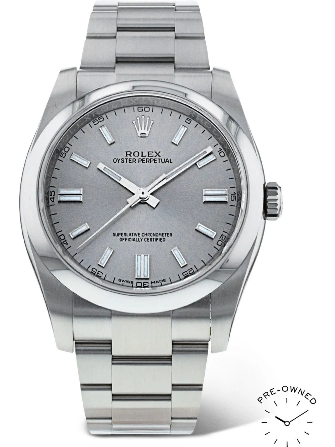 Photo: ROLEX - Pre-Owned 2017 Oyster Perpetual Automatic 36mm Oystersteel Watch, Ref. No. 116000