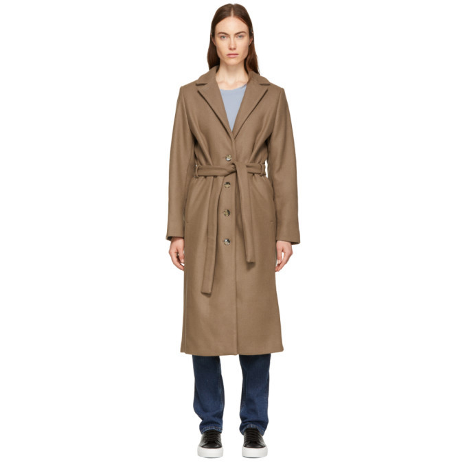 Won Hundred Brown Marina Belted Coat