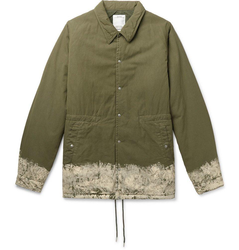 Photo: visvim - Painted Padded Cotton-Blend Jacket - Army green