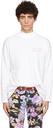 Martine Rose White Funnel Neck Logo Long Sleeve T-Shirt