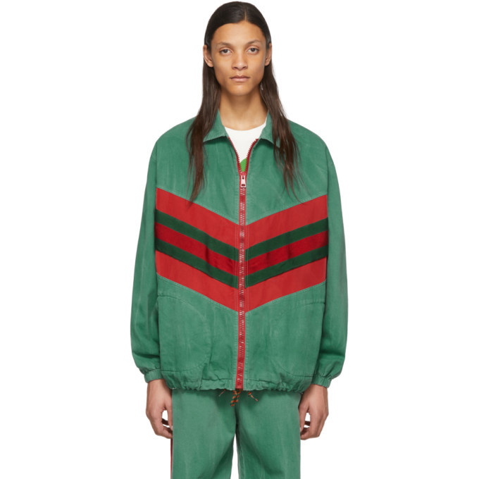 Photo: Gucci Green and Red Denim Jacket