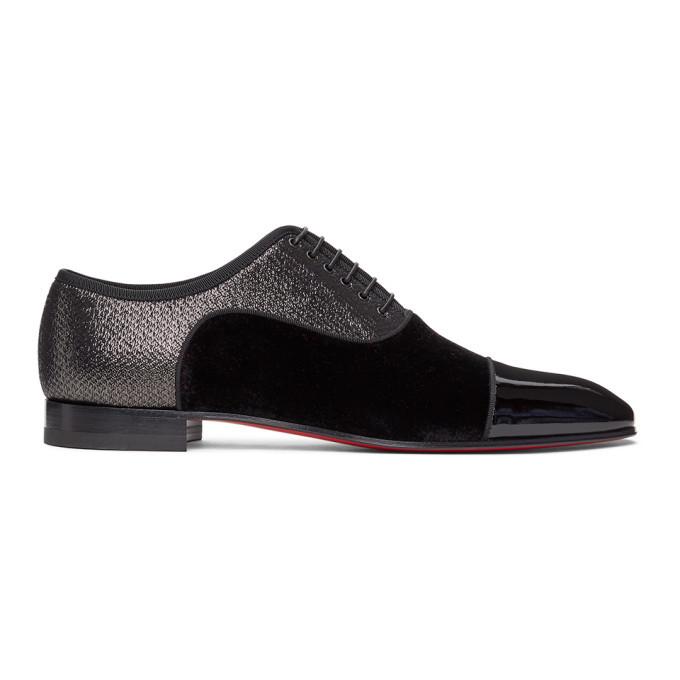 Photo: Christian Louboutin Black Greggo Orlato Lace-Up Loafers
