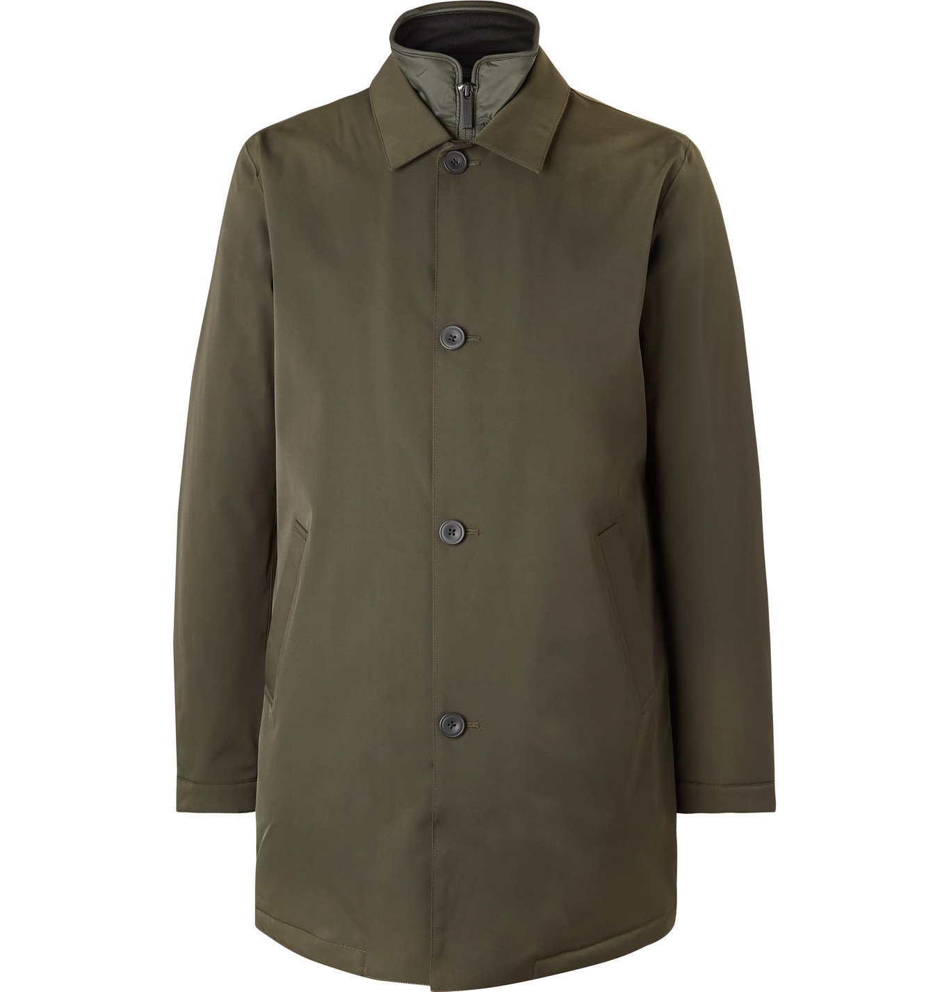 Photo: NN07 - Blake Shell Car Coat with Detachable PrimaLoft Liner - Green