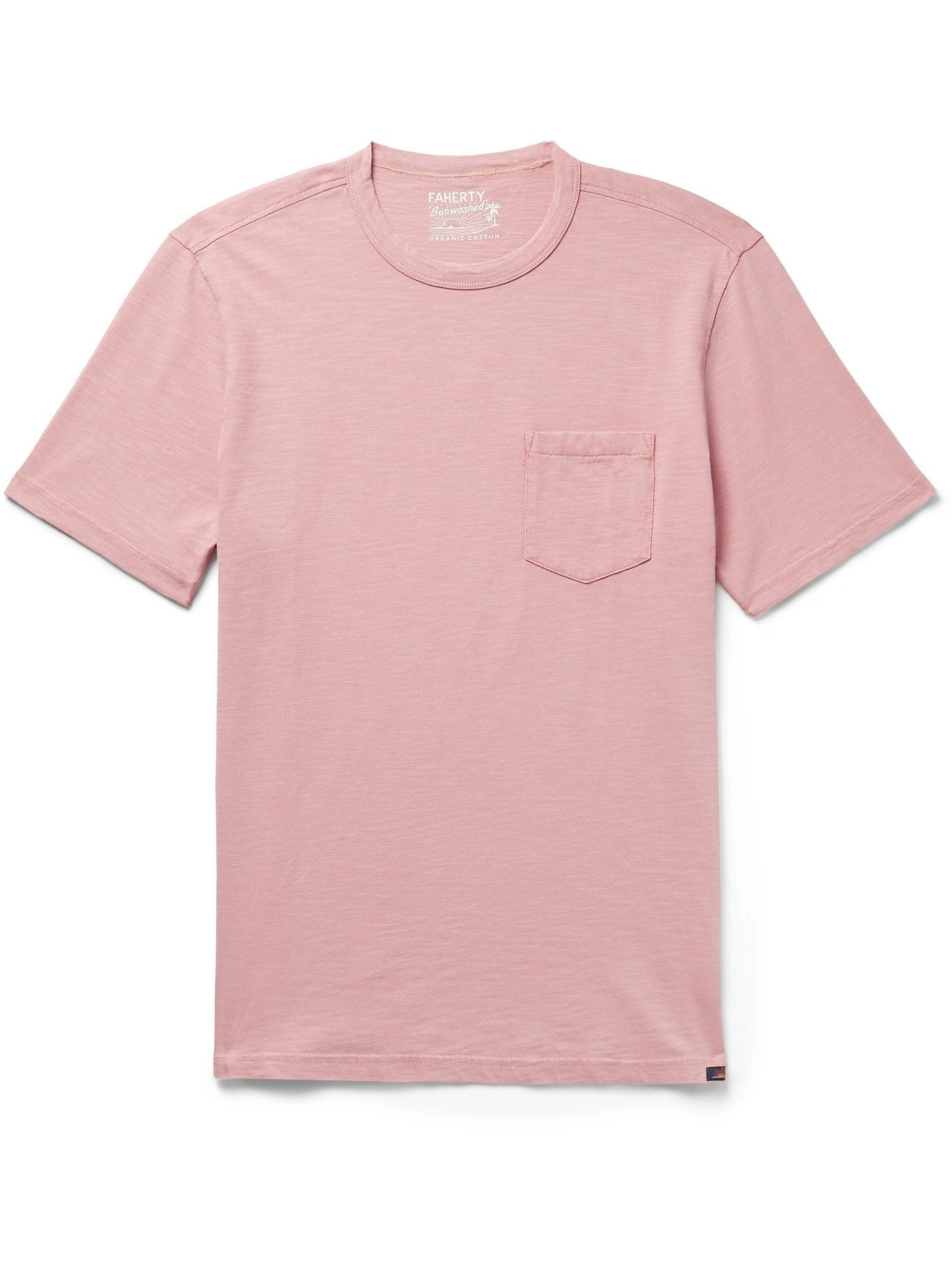 Photo: FAHERTY - Sunwashed Organic Cotton-Jersey T-Shirt - Red
