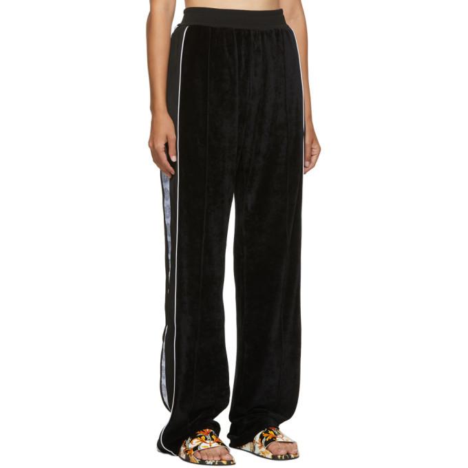 Versace Black Velour Medusa Lounge Pants