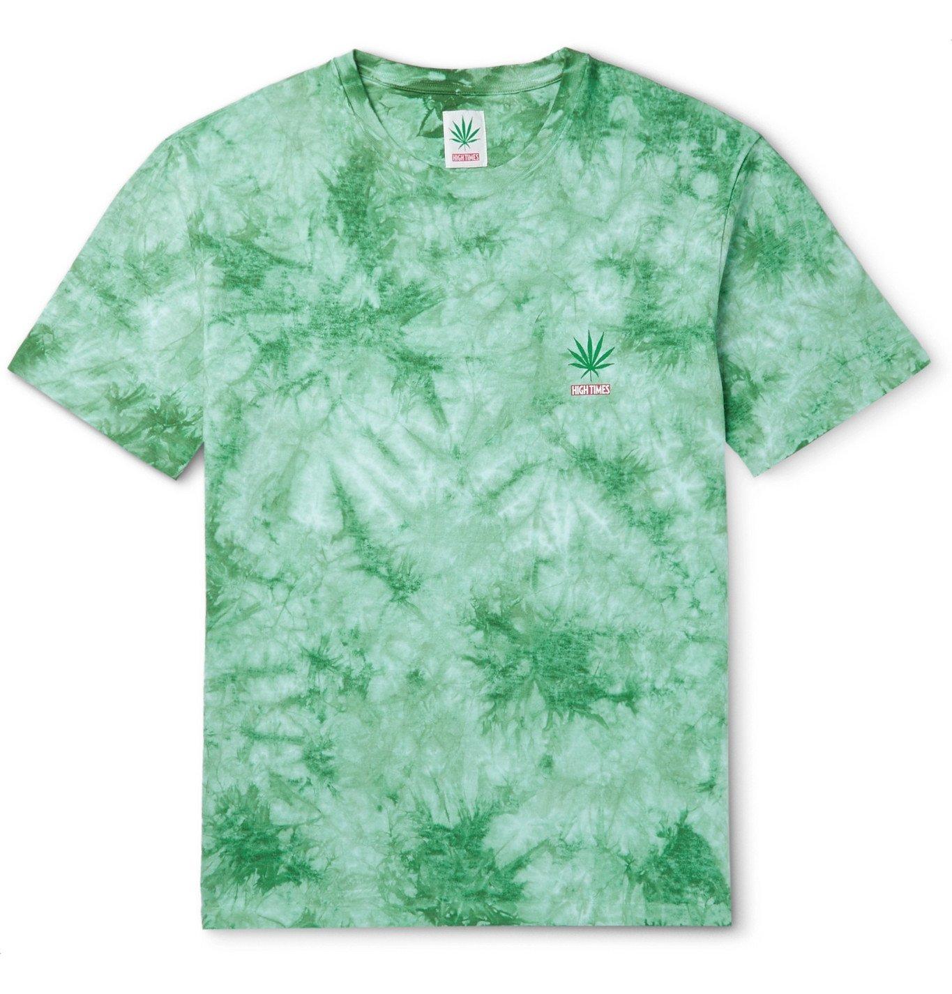 Photo: Wacko Maria - High Times Tie-Dyed Cotton-Jersey T-Shirt - Green