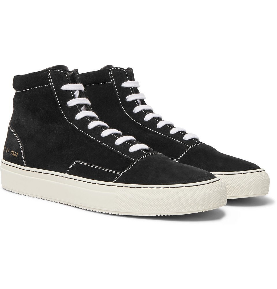 Common Projects - Cap-Toe Suede High-Top Sneakers - Men - Black