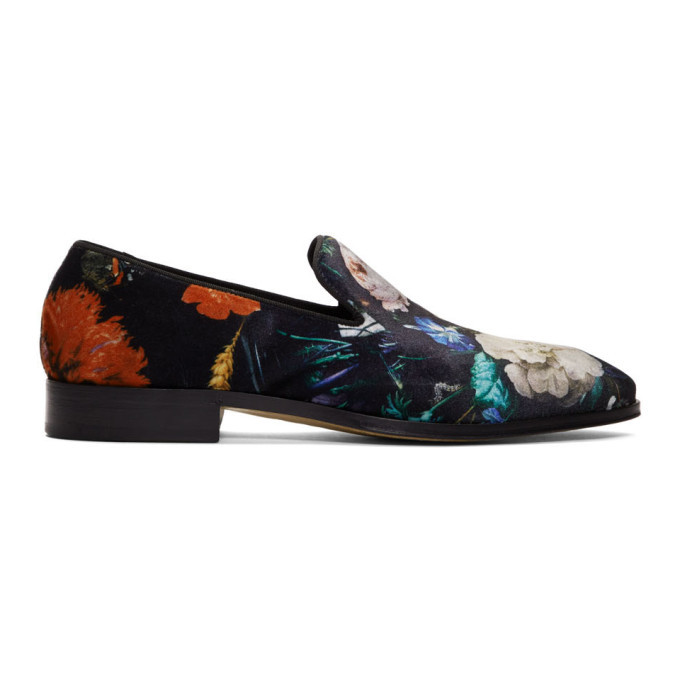 Photo: Paul Smith Black Floral Tudor Loafers