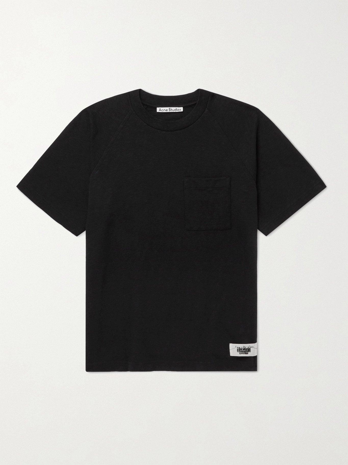 Photo: ACNE STUDIOS - Emeril Slub Cotton-Jersey T-Shirt - Black