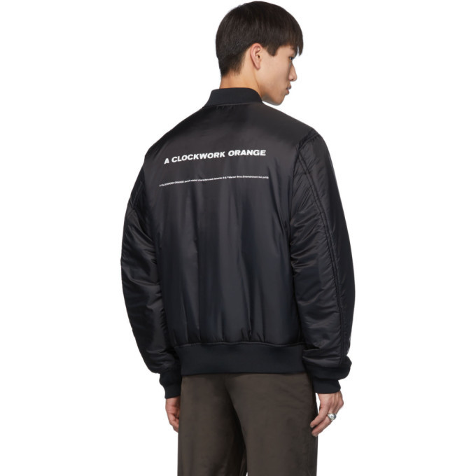 Undercover Reversible Black A Clockwork Orange Alex Frame Bomber Jacket