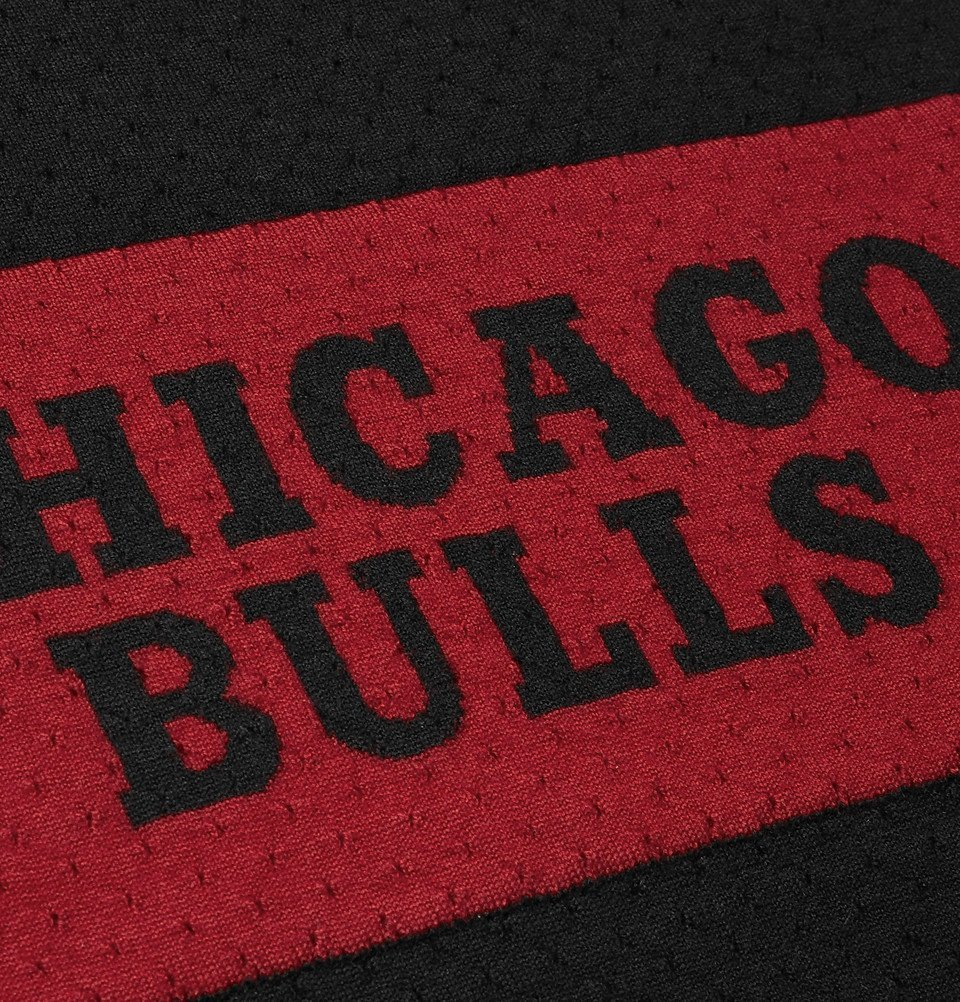 The Elder Statesman - NBA Chicago Bulls Intarsia Cashmere and Silk-Blend Tank Top - Black