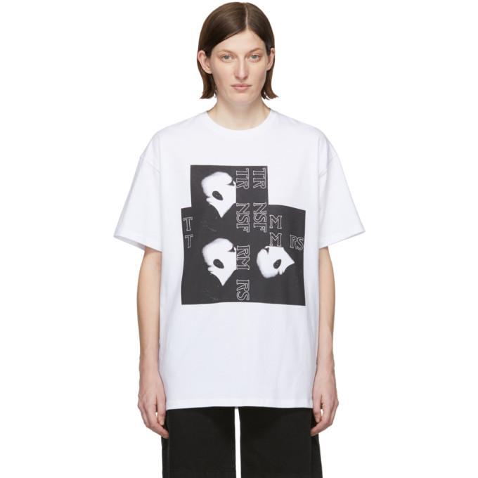 Raf Simons White Bald Head Big Fit T-Shirt
