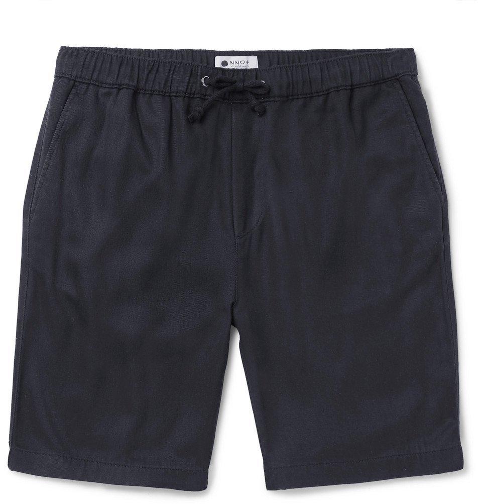 Photo: NN07 - Pelle Slim-Fit Linen Drawstring Shorts - Navy