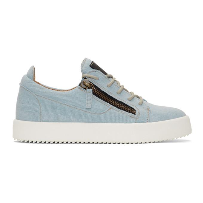 Photo: Giuseppe Zanotti Blue Denim May London Sneakers