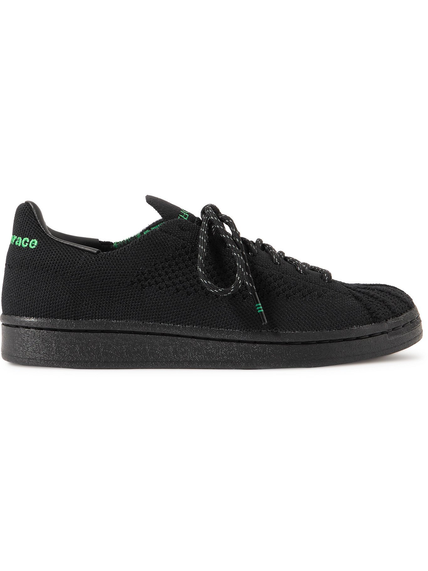 Photo: ADIDAS ORIGINALS - Pharrell Williams Superstar Primeknit Sneakers - Black - UK 7