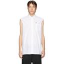 Raf Simons White Sleeveless Regular Fit Shirt