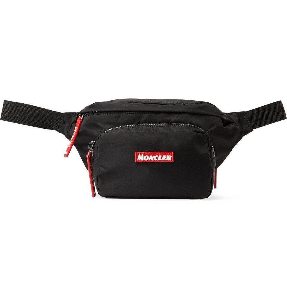 Photo: Moncler - Durance Logo-Embroidered Nylon-Drill Belt Bag - Black
