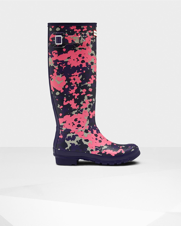 Photo: Women's Original Tall Flecktarn Spacepop Rain Boots