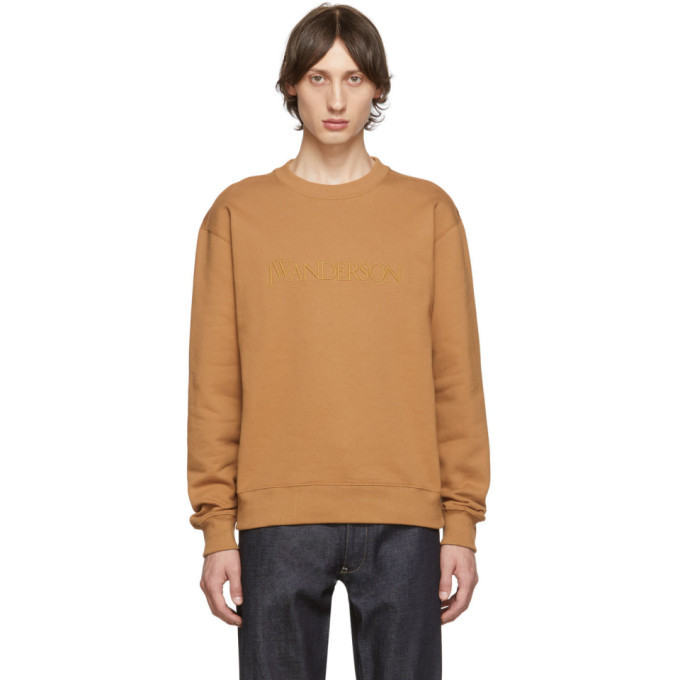 Photo: JW Anderson Tan Embroidered Logo Sweatshirt