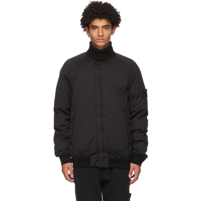 Photo: Stone Island Black Down Bomber Jacket