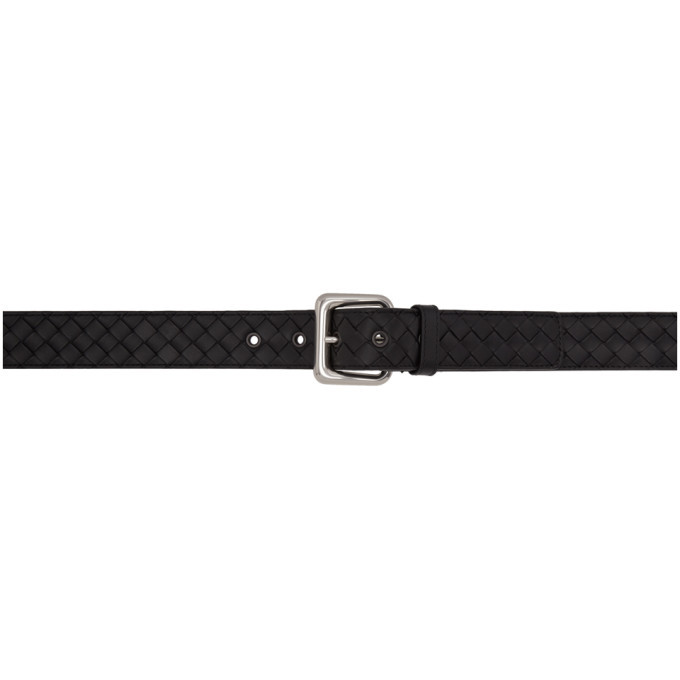 Photo: Bottega Veneta Black Intrecciato Belt