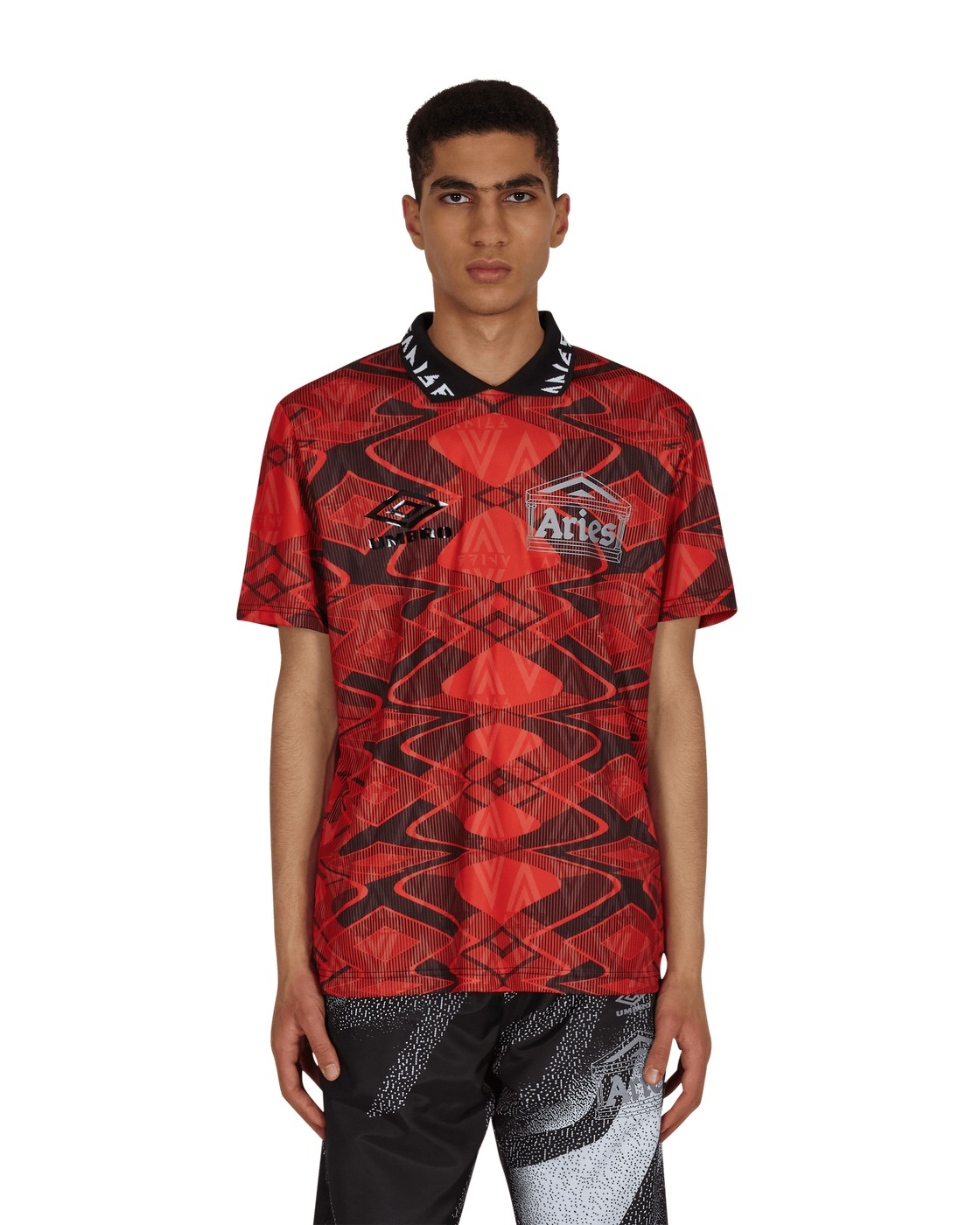 Aries Umbro Football Jersey Red/Black