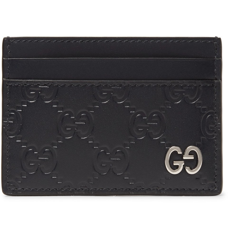 Photo: Gucci - Embossed Leather Cardholder - Black