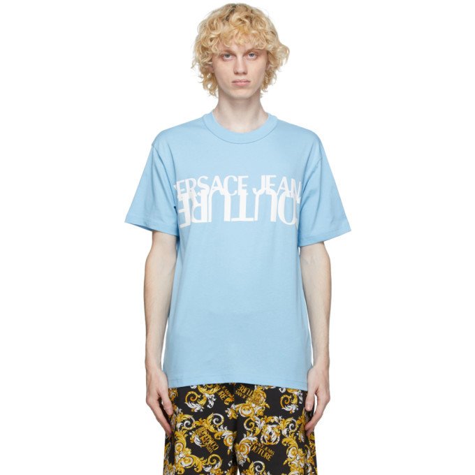 Photo: Versace Jeans Couture Blue and White Logo T-Shirt