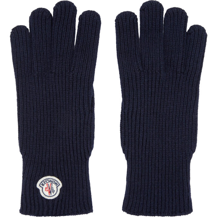 Photo: Moncler Navy Knit Gloves