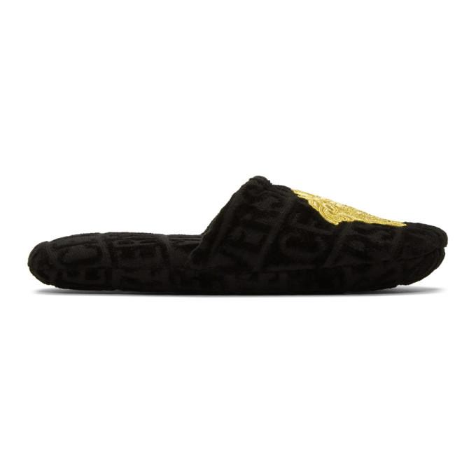 Photo: Versace Black Logomania Slippers