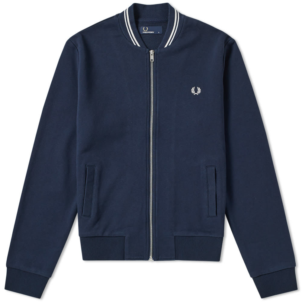Photo: Fred Perry Bomber Neck Zip Sweat