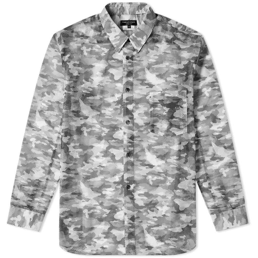 Comme des Garcons Homme Plus Mesh Camo Printed Shirt Black & Khaki